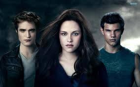 Bella, Edward y Jacob.