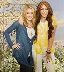 Emily Osment y Miley Cyrus de Hanna Montana