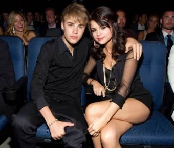 Selena Gomez con su ex-novio Justin.