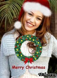 Miley Se Ve Mas Hermosa Con Sombrero Navideño